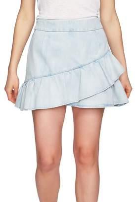 1 STATE 1.State Ruffle Denim Miniskirt