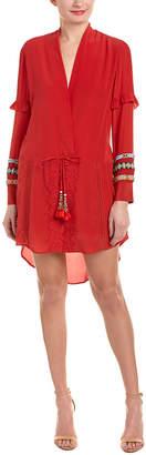 Rococo Sand Hemant and Nandita Tie-Waist Silk Shift Dress