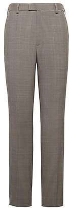Banana Republic Slim Windowpane Performance Stretch Wool Dress Pant