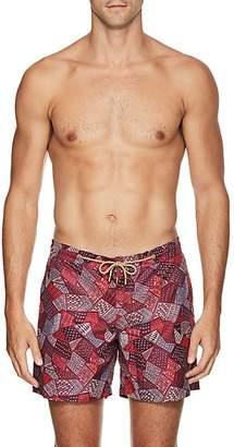 Trunks Thorsun Men's Geometric-Pattern Swim Red