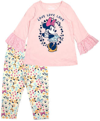 9b6d32e11881e DISNEY MINNIE MOUSE Disney 2-pc. Minnie Mouse Legging Set-Toddler Girls