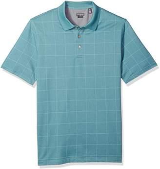 Van Heusen Men's Size Slim Fit Short Sleeve Printed Windowpane Polo Shirt