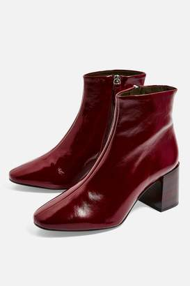 Topshop WIDE FIT Marlene Heeled Leather Boots