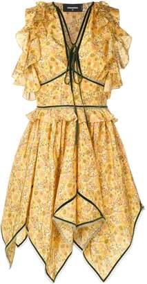 DSQUARED2 flared asymmetric dress