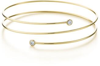 Tiffany & Co. Elsa Peretti Diamond Hoop three-row bracelet in sterling silver with diamonds,
