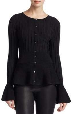 Saks Fifth Avenue COLLECTION Peplum Cardigan Sweater