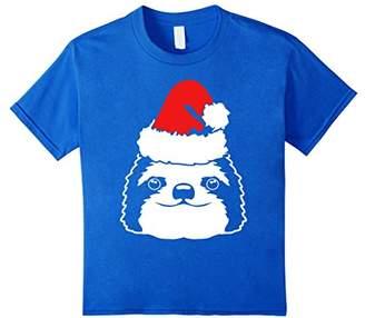 Cute Sloth Christmas Santa Hat T-Shirt