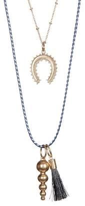 Melrose and Market Horseshoe & Corded Necklaces - Set of 2