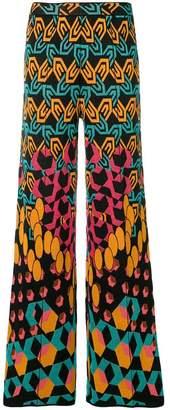 M Missoni jacquard knit geometric trousers