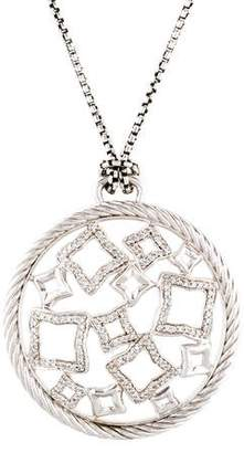 David Yurman Diamond Quatrefoil Pendant Necklace