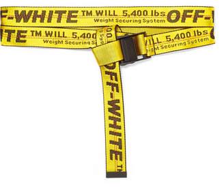 Off-White Canvas-jacquard Belt - Yellow