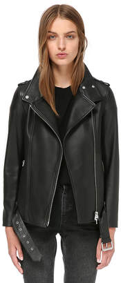 Mackage Selenia Boyfriend Moto Leather Jacket