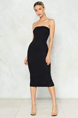 Nasty Gal Simple as That Strapless Dress