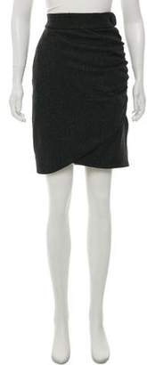 Robert Rodriguez Wool-Blend Knee-Length Skirt