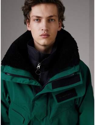 Burberry Detachable Shearling Collar Modular Jacket with Warmer