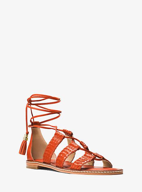 Michael Kors Monterey Gladiator Leather Lace-Up Sandal