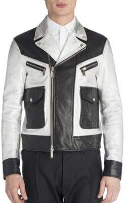 Viktor & Rolf Leather Two-Toned Jacket