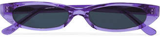 Roberi & Fraud - Frances Oval-frame Acetate Sunglasses - Purple