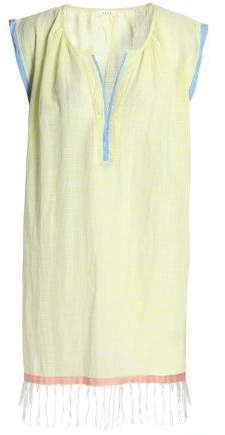 Fringed Cotton-Mousseline Coverup
