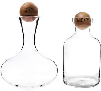 Cathy's Concepts CATHYS CONCEPTS Wine & Whiskey Decanter Set