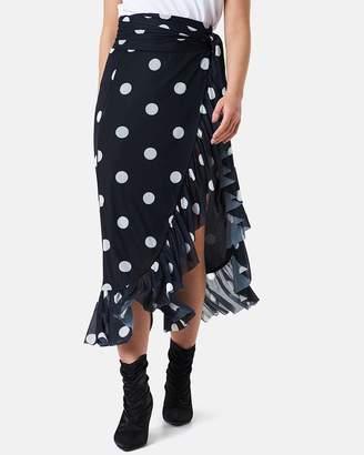 NA-KD Mesh Overlap Maxi Skirt