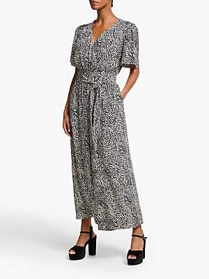 Somerset by Alice Temperley Leopard Print Jumpsuit, Nude