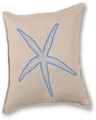 Greendale Home Fashions Starfish Applique Burlap Pillow Front Panel Interior Cotton Lined
