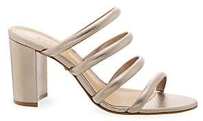 Schutz Women's Felisa Strappy Metallic Leather Mules