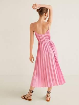 01b7bfff7ace MANGO Strappy Pleated Midi Dress