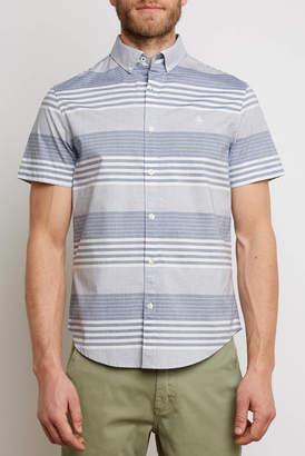 Original Penguin Vintage Striped Short Sleeve Woven Button Down Shirt