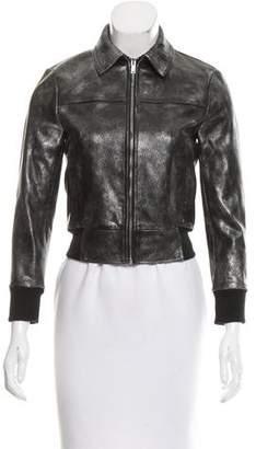 R 13 2016 Metallic Leather Jacket