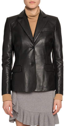 Altuzarra Single-Breasted Leather Blazer