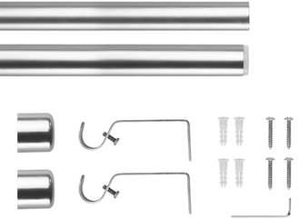 Orren Ellis Pizano Modern End Cap Single Curtain Rod & Hardware Set