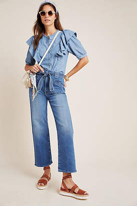 Mother The Rambler Tie Patch Ultra High-Rise Jeans