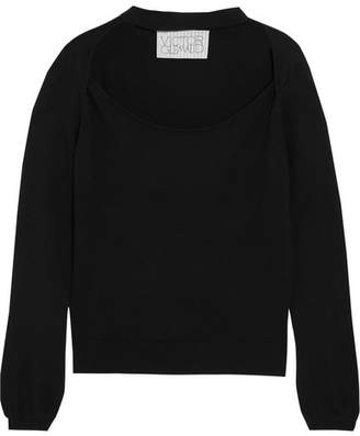 Victor Glemaud - Cutout Cotton And Cashmere-blend Sweater - Black