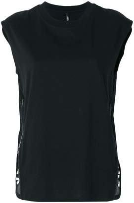 Versus zipped logo tank top