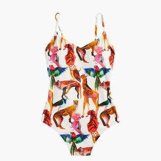 J.Crew Ballet one-piece swimsuit in Ratti® animal print