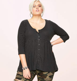 Loralette Dot Babydoll Top