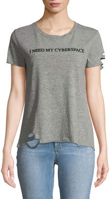 Wildfox Couture Cyberspace Crewneck Slogan Tee