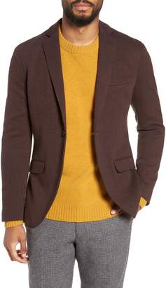 Selected Herrold Slim Fit Herringbone Jersey Sport Coat
