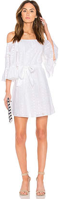 Line & Dot Celia Peasant Dress in White $110 thestylecure.com