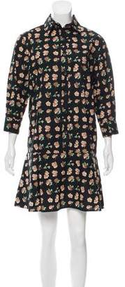 Thakoon Printed Button-Up Dress