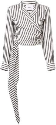 Barbara Casasola striped wrap shirt