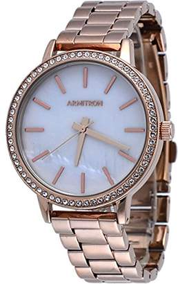23dcf89d7 at Amazon.com · Swarovski Armitron Women's 75/5500MPRG Crystal Accented  -Tone Bracelet Watch