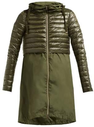 Herno Padded Nylon Coat - Womens - Khaki
