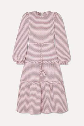 Anna Mason - Christy Striped Swiss-dot Gauze Dress - Lilac