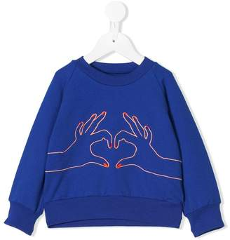 Bang Bang Copenhagen Love embroidered sweatshirt