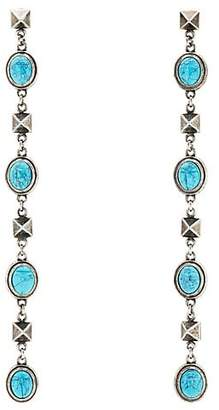 Valentino WOMEN'S IMITATION-TURQUOISE DROP EARRINGS - GOLD