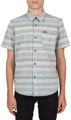 Boy's Volcom Clockwork Stripe Woven Shirt $45 thestylecure.com