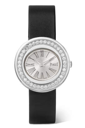 Piaget Possession 29mm Satin, 18-karat White Gold Diamond Watch